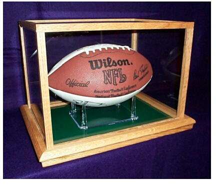 b665bb699d3 Glass NFL Football Display from Display Case Art inc.